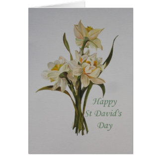St David's Day Daffodils Greeting Card