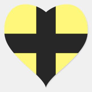 St. David's Day - Flag Heart Sticker