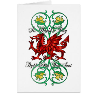 St. David's Day Greeting Card, Card Saint David's