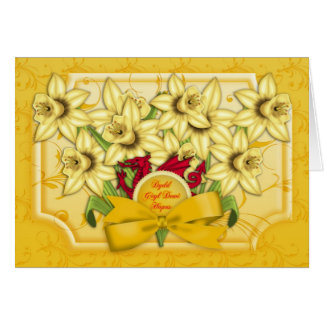 St. David's Day Greeting Card - Dydd Gwyl Dewi Hap
