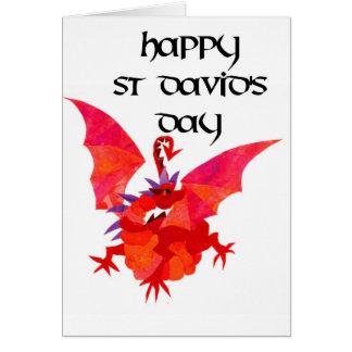 St David's Day Greeting Card - English