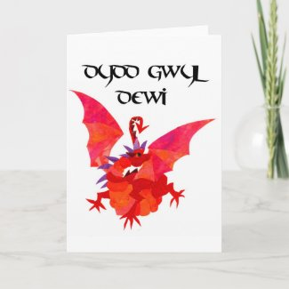 St David's Day Greeting Card - Welsh