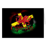 St. David's Day Greeting Card With Welsh Dragon