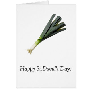 'St. David's Day' greetings card - customisable