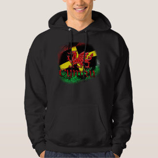 St. David's Day Hoodie With Flag, Welsh Dragon