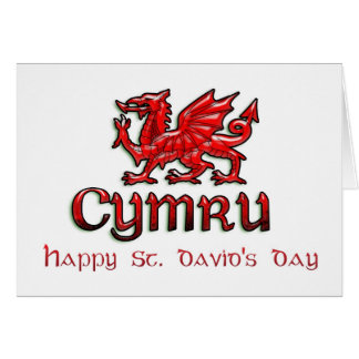 St. David's Day, Saint David, Ddydd Gwyl Dewi Sant Card