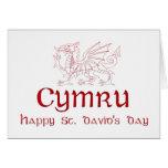 St. David's Day, Saint David, Ddydd Gwyl Dewi Sant Greeting Card