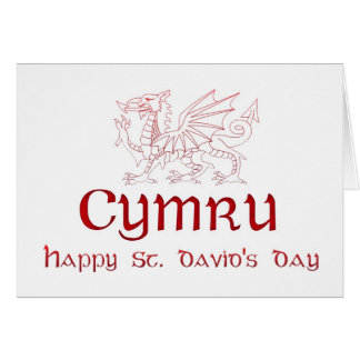 St. David's Day, Saint David, Ddydd Gwyl Dewi Sant Greeting Card
