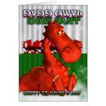 St. David's Day, Welsh Card, Dydd Gwyl Dewi Sant Greeting Card