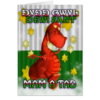 St. David's Day, Welsh Card, Dydd Gwyl Dewi Sant Greeting Card
