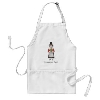 St David's Day, Welsh Costume, Card to Personalize Standard Apron
