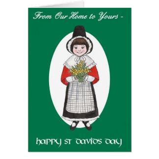 St David's Day, Welsh Costume, Our Home to Yours Card