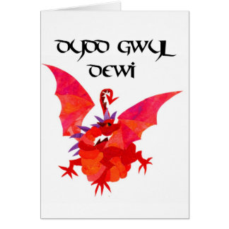 St David's Day Welsh Red Dragon Card