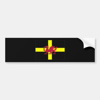 St Davids Day with Dragon Bumper Sticker