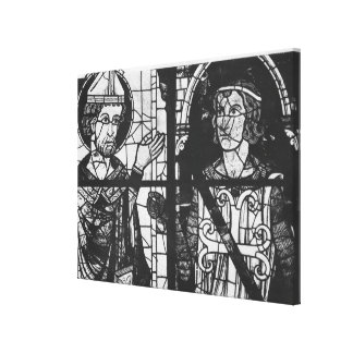St. Denis giving the oriflamme to knight Clement Canvas Print