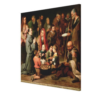 St. Diego of Alcala Giving Food to the Poor Canvas Print