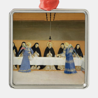 St. Dominic and his Companions Fed by Angels Christmas Ornament