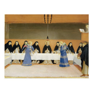 St. Dominic and his Companions Fed by Angels Postcard