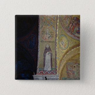 St. Dominic and St. Nicholas, mosaic in the atrium 15 Cm Square Badge