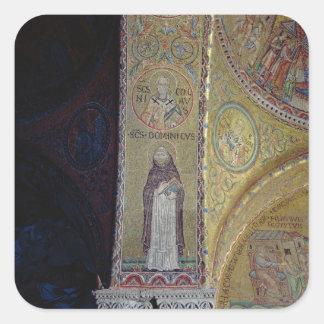 St. Dominic and St. Nicholas, mosaic in the atrium Square Sticker
