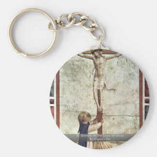 St Dominic At The Cross Of Christ By Angelico Fra Key Chains