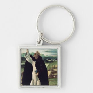 St. Dominic, c.1498-1505 Silver-Colored Square Key Ring