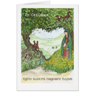 St Dwynwen's Day Card, Welsh Greeting Card