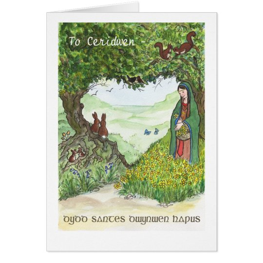 St Dwynwen's Day Card, Welsh Greeting Card