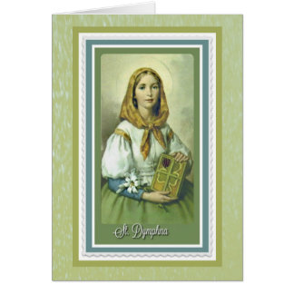 St. Dymphna Greeting Card w/prayer