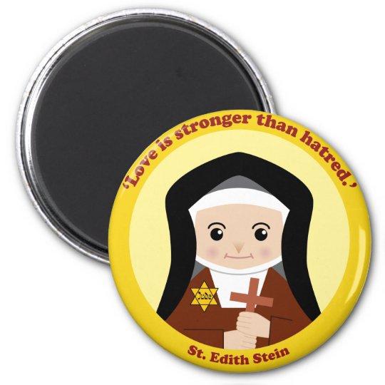 St. Edith Stein 6 Cm Round Magnet