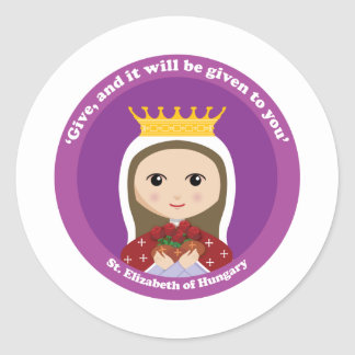 St. Elizabeth of Hungary Classic Round Sticker