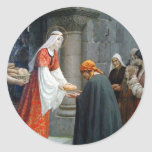St. Elizabeth of Hungary Feeds the Poor Round Sticker