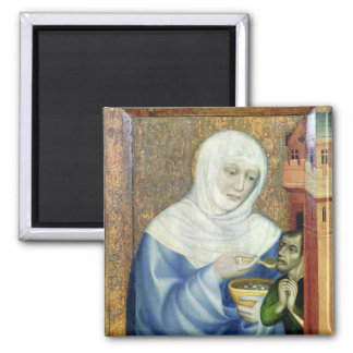 St. Elizabeth of Hungary Square Magnet