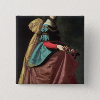 St. Elizabeth of Portugal  1640 15 Cm Square Badge