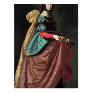 St. Elizabeth of Portugal  1640 Postcard
