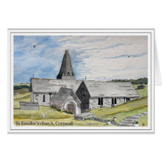 St Enodoc's Church, Trebetherick, Cornwall Card