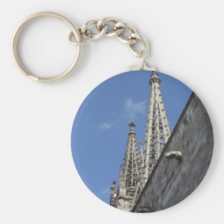 St Eulalia cathedral, Barcelona Basic Round Button Key Ring