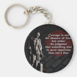 St. Florian Courage Firefighter Basic Round Button Key Ring