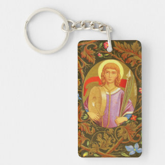 St. Florian of Lorch (PM 03) Double Image Double-Sided Rectangular Acrylic Key Ring