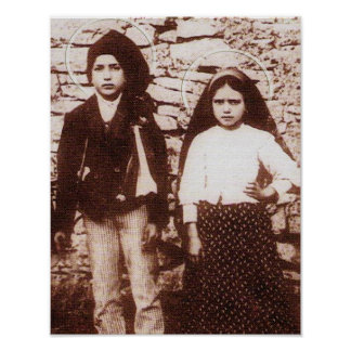 ST FRANCESCO AND ST JACINTA POSTER