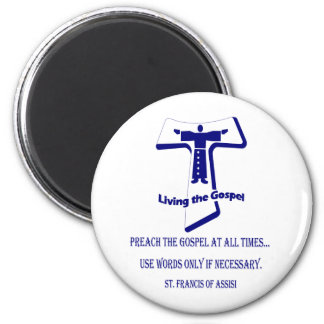 St Francis 6 Cm Round Magnet