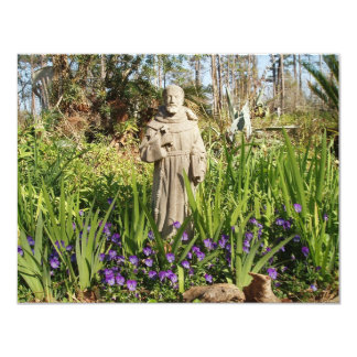 St. Francis Among Pansies 11 Cm X 14 Cm Invitation Card