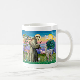 St Francis and Llama Baby Coffee Mug
