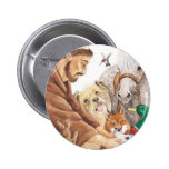 St. Francis & Animals, hat, pin, keychain, pet tag 6 Cm Round Badge