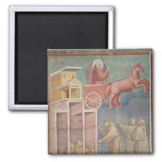 St. Francis Appears to His Companions Square Magnet