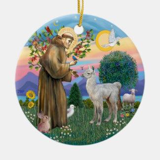 St Francis - Baby Llama Christmas Ornament