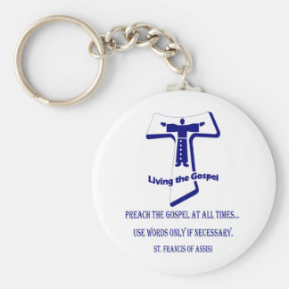 St Francis Basic Round Button Key Ring