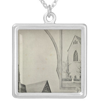 St Francis Church, Naugatuck Silver Plated Necklace