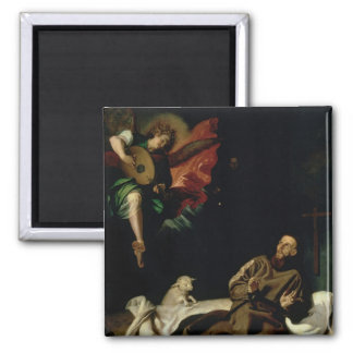St. Francis comforted by an Angel Musician Magnet