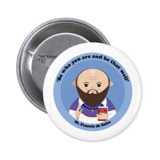 St. Francis de Sales 6 Cm Round Badge